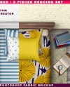 Twin Bedding Set 1 2 3 Pieces Photoshop Fabric Mockup T 3bs Etsy