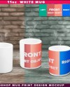 11oz White Coffee Mug Set Of 3 Photoshop Print Mockup M 1 Etsy