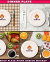 Dinner Plate Table Styling Photoshop Mockup P1 3 White And Etsy