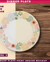 Dinner Plate Photoshop Mockup Top And Front View Of Dinner Etsy