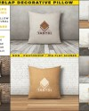 Square Decorative Pillow Blank Burlap White Cushion On Etsy