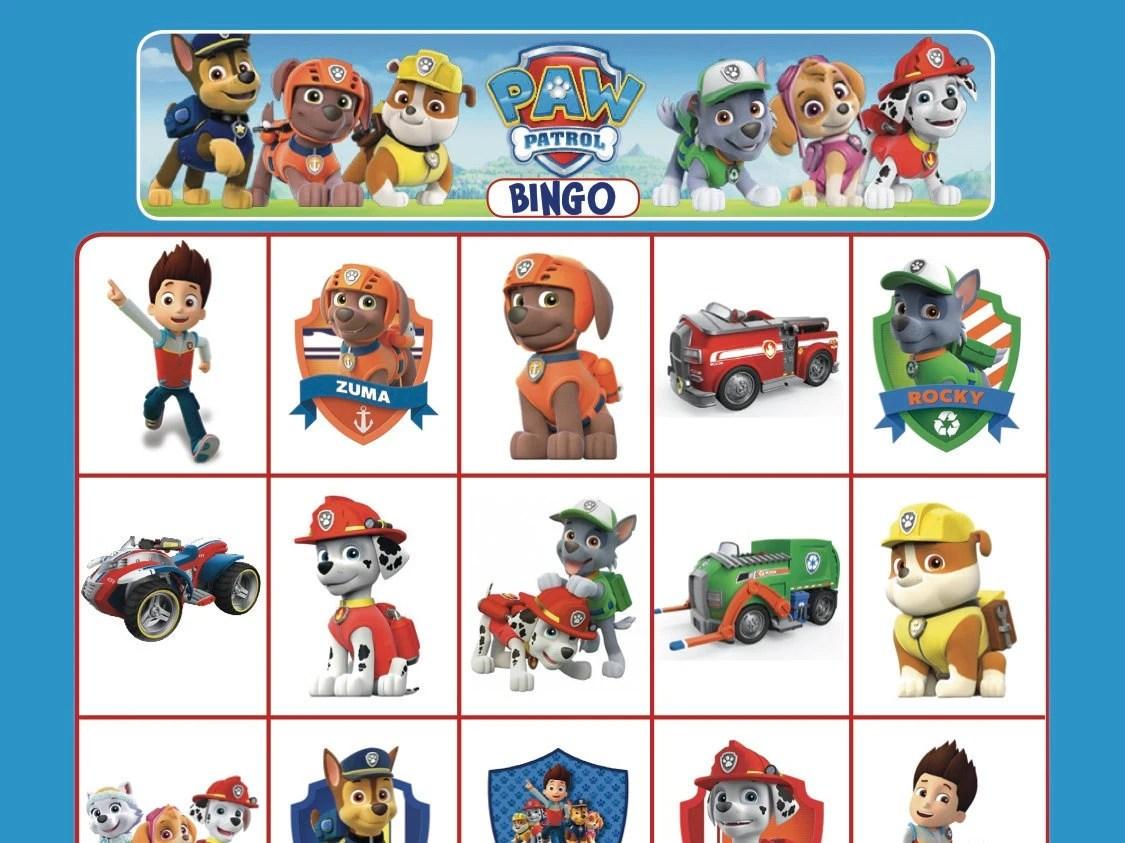 Paw Patrol Bingo Cards Instant Digital Download 14 Unique