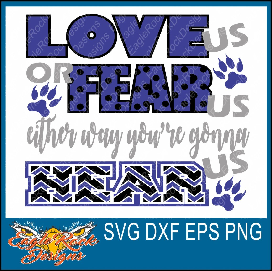 Download Wolves Love Us Fear Us SVG DXF EPS Png Cut File Paw   Etsy