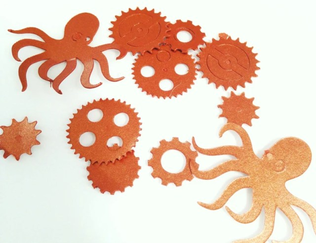 Steampunk Party Table Scatter Confetti Kraken Gears Confetti Party Decorations Goth Party Punk Decor Party Table Scatter Confetti #PRTC01.