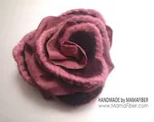 Passion Rose Brooch Wooll...