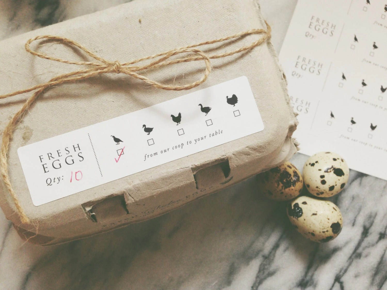 Egg Carton Labels Printed Fresh Eggs Label Chicken