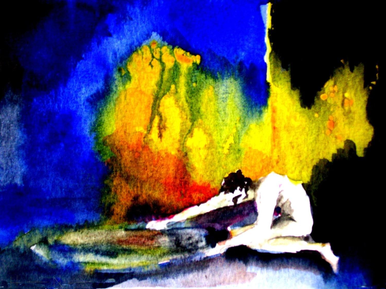 Mythology Narcissus Greek Underworld Fine Art Painting