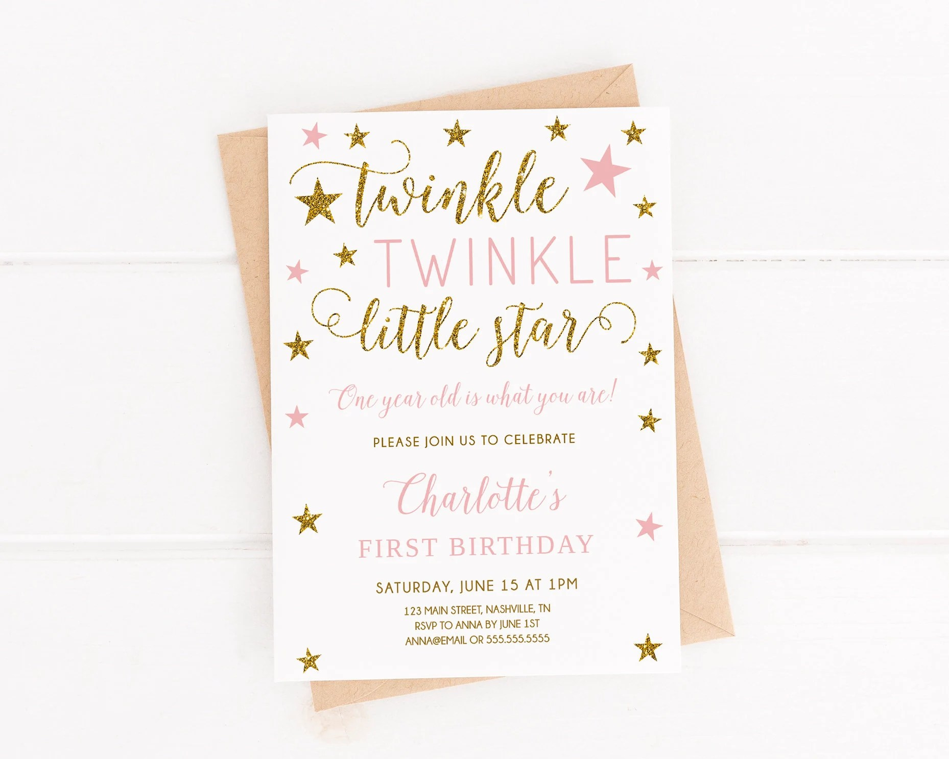 twinkle twinkle little star first