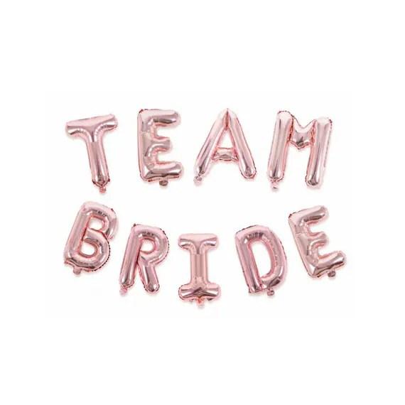 Team Bride Balloons