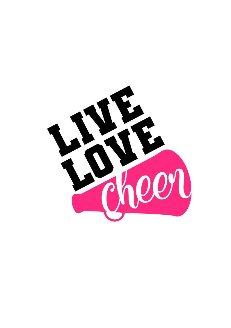 Download Live Love Cheer SVG File Digital Download for Cricut and ...