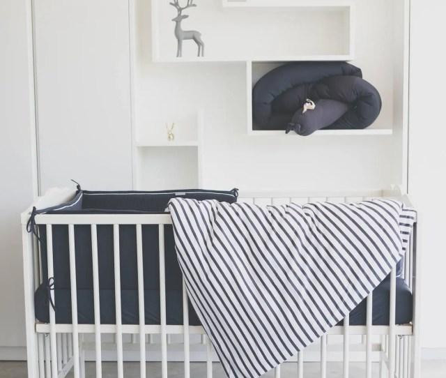 Graphite Stripe Unisex Crib Set Modern Crib Bedding Set Baby Bedding Organic Cotton Nursery Bedding