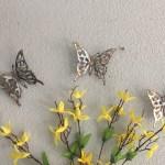 3 Butterflies Free Shipping Metal Wall Art Metal