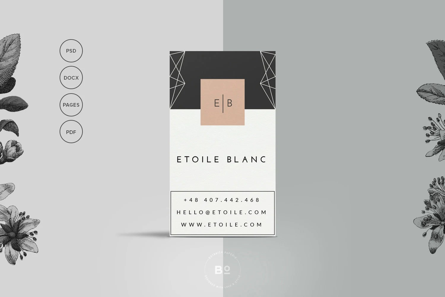INSTANT DOWNLOAD Hello DIY Printable Business Card 2 Premade Business Card Templates   Set of 2 Printable Business Cards    Hipster Card Design   Clean Personal Card Design   Instant Download