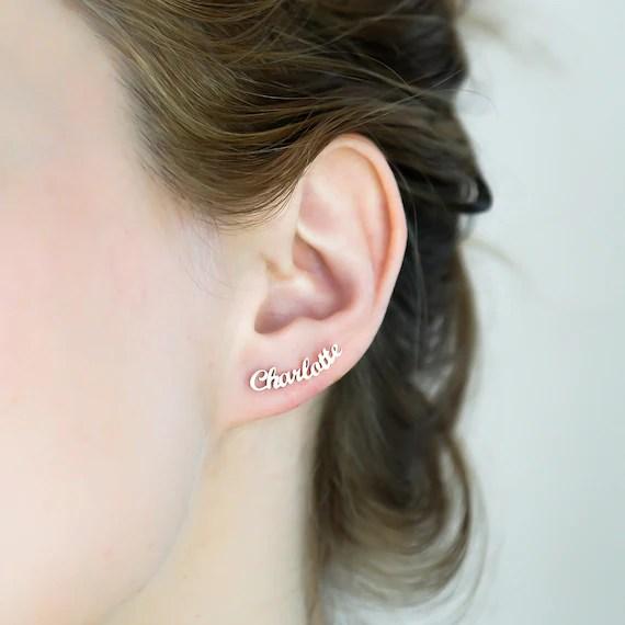 Personalised Name Earrings