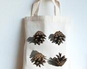 Autumn print, Pine cone m...