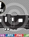 Travel Trailer Camper Rv Clip Art Image Svg Cutting File Etsy