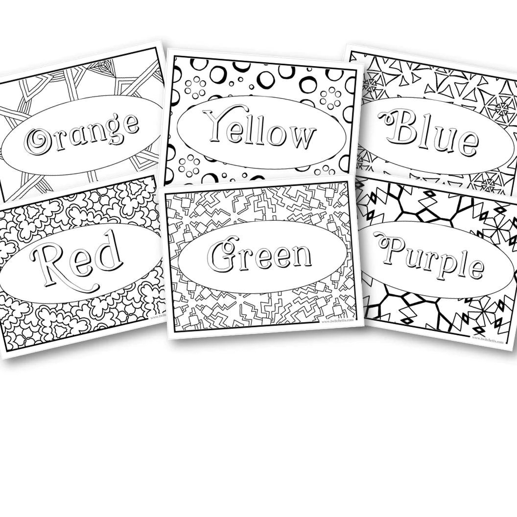 Rainbow Coloring Pages Screen Free Activities Preschool And