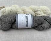 Illustrious Naturals - WYS - Colour: Slate #036 - DK Knitting wool 100g - Undyed yarn - Falkland Island wool - British Alpaca