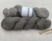 Illustrious Naturals - West Yorkshire Spinners  undyed yarn - Colour: Pewter #838 - 100g - Falkland Island wool & British Alpaca - DK weight