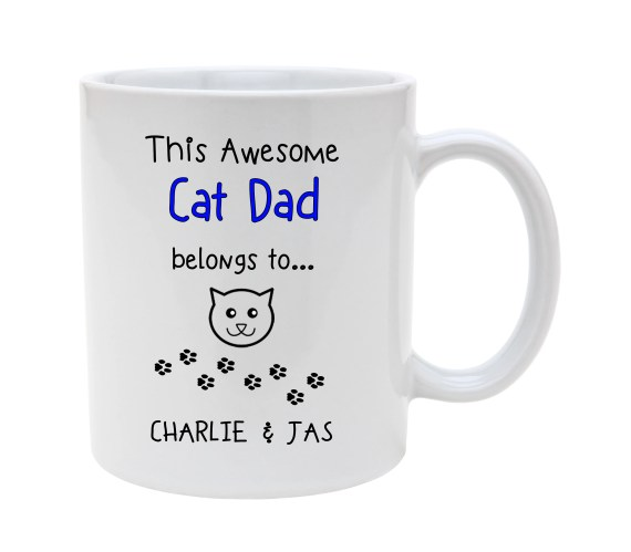 Awesome CAT DAD MUG