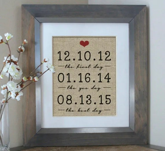 wedding gifts for couple the first day the yes day the best day wedding gift bridal shower gift for husband gift for bride and groom gift