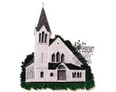 Paper Quilled Bunker Hill Church   Jefferson, Maine   8x10