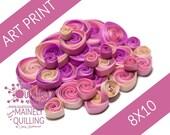 Art Print | Pink Vortex Coil Collage