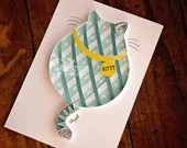Asymmetrical Striped Fat Cat | Ready-to-Ship