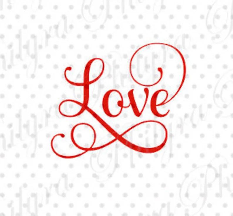 Download Love SVG Svg Digital Cutting File PDFDXF | Etsy
