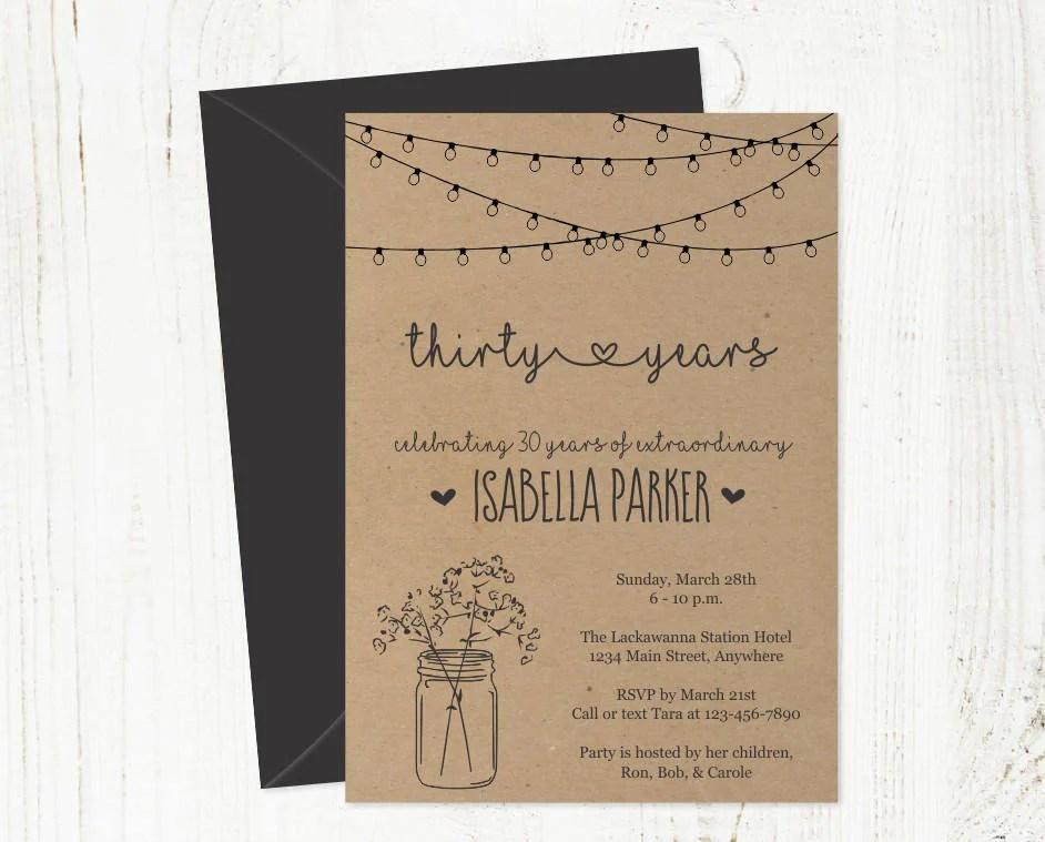 printable birthday invitation for women