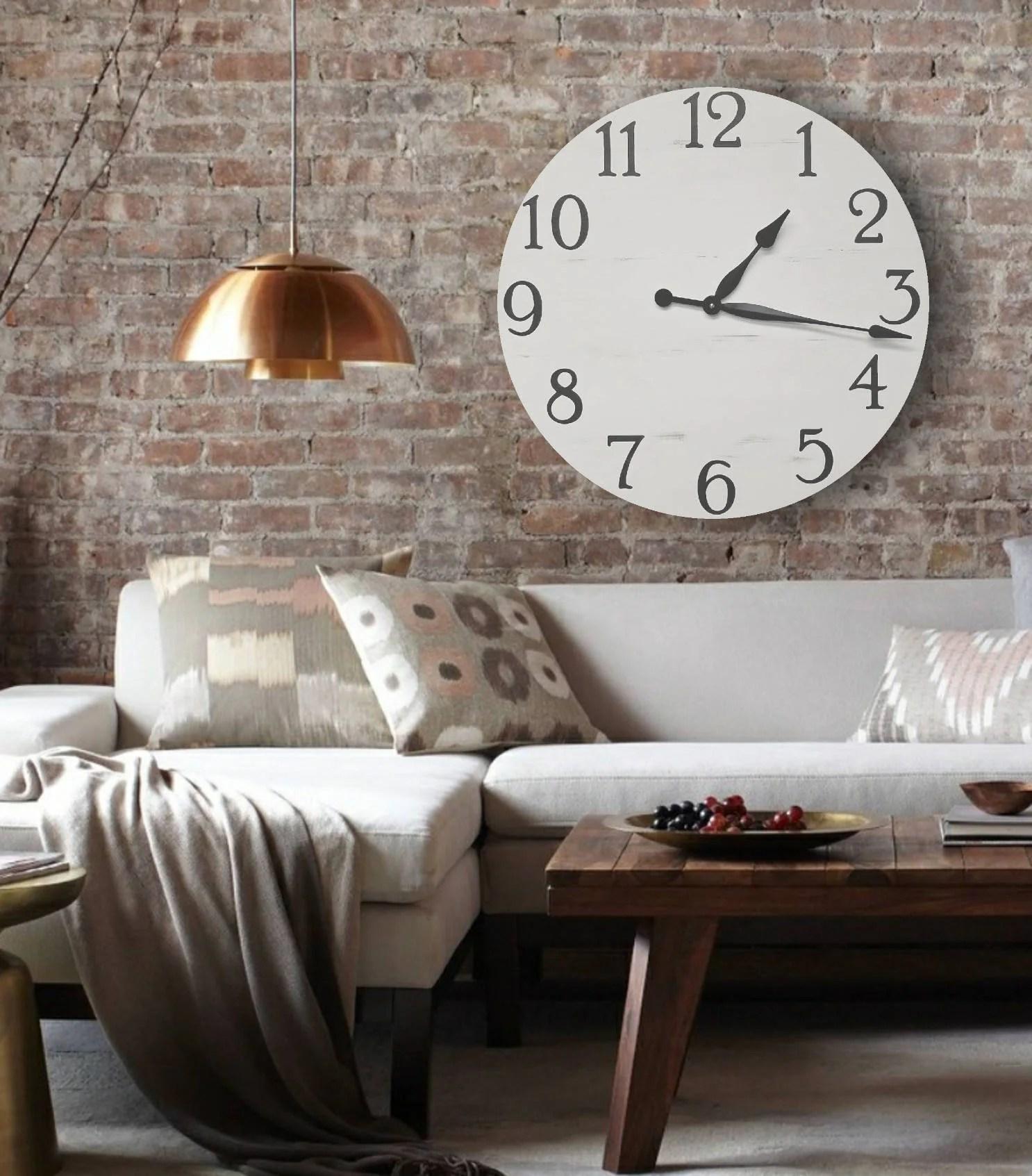 The Camilla Farmhouse Clock Rustic Clock Oversized Wall Clock Big Clock Large Clock Farmhouse Decor Rustic Decor