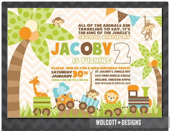jungle birthday invitation jungle