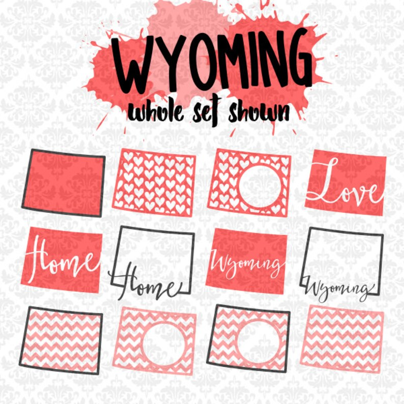 Download Wyoming Chevron Outline Home Love Monogram State Set SVG ...