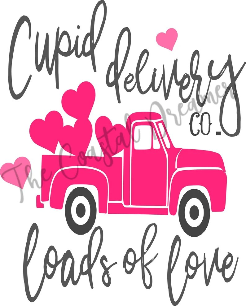 Download Valentines day SVG file Cupid delivery co loads of love | Etsy