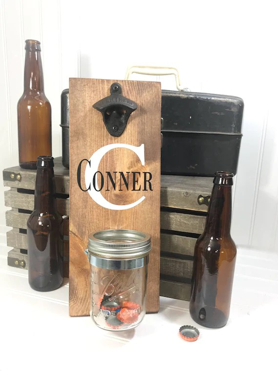 Personalized Bottle Opener from Knotty Pines Designs on Etsy