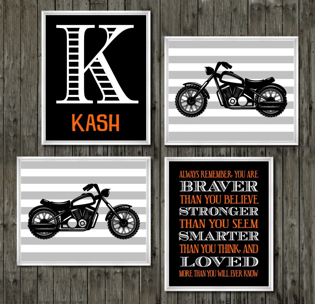 Harley Davidson Colors Baby Boys Name Motorcycle Room