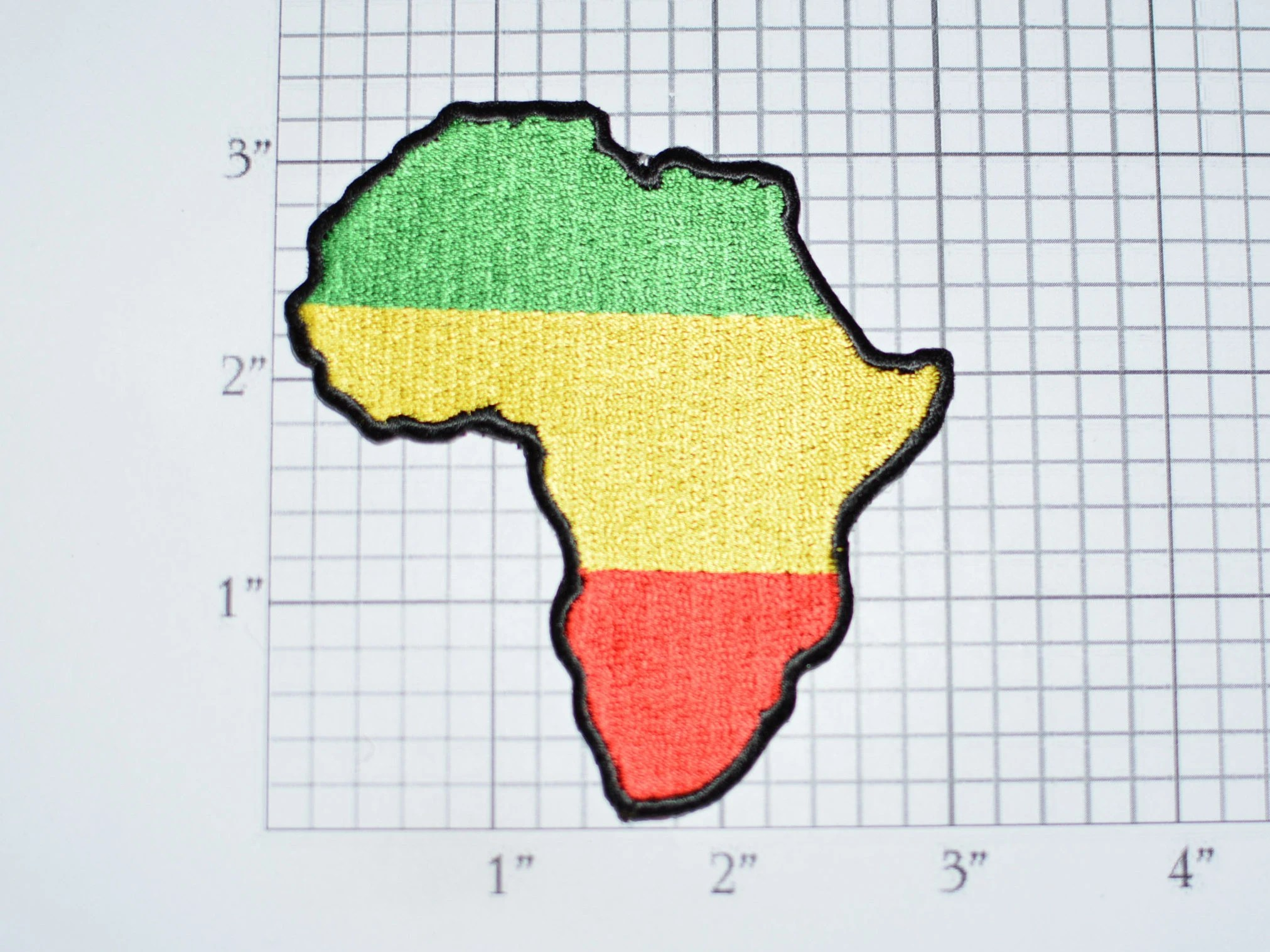 Africa Country Map Outline Iron On Embroidered Clothing
