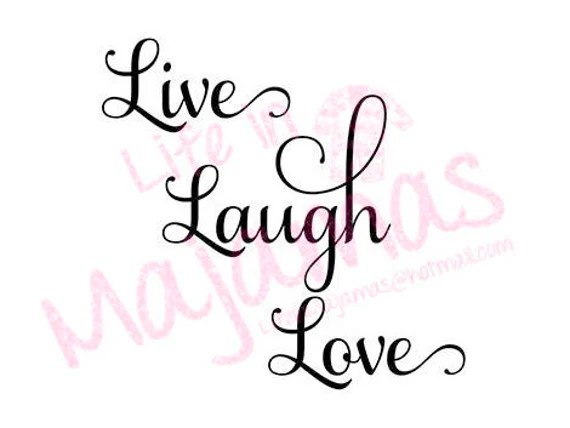 Download Live Laugh Love SVG | Etsy