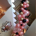 Rose Gold And Black Balloon Garland Rose Gold And Black Bridal Shower Decor Black And Rose Gold Birthday Balloons