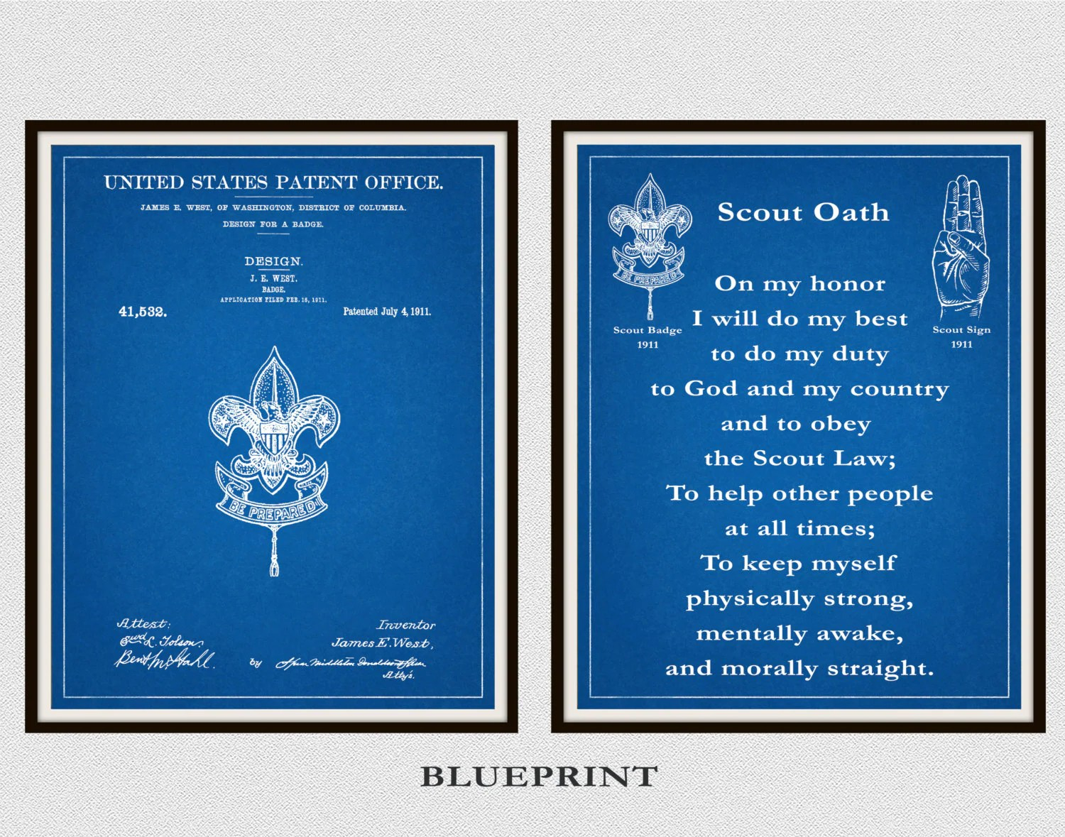 Patent Boy Scout Badge And Boy Scout Oath