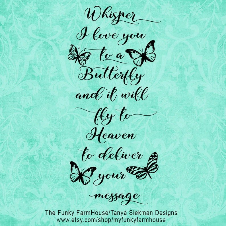 Download SVG DXF & PNG Whisper I Love You to a Butterfly   Etsy