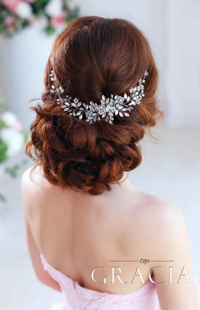 wedding hair accessories bridal hair piece wedding headband crystal hairpiece rhinestone headpiece bridal hair jewelry bridal headband vine