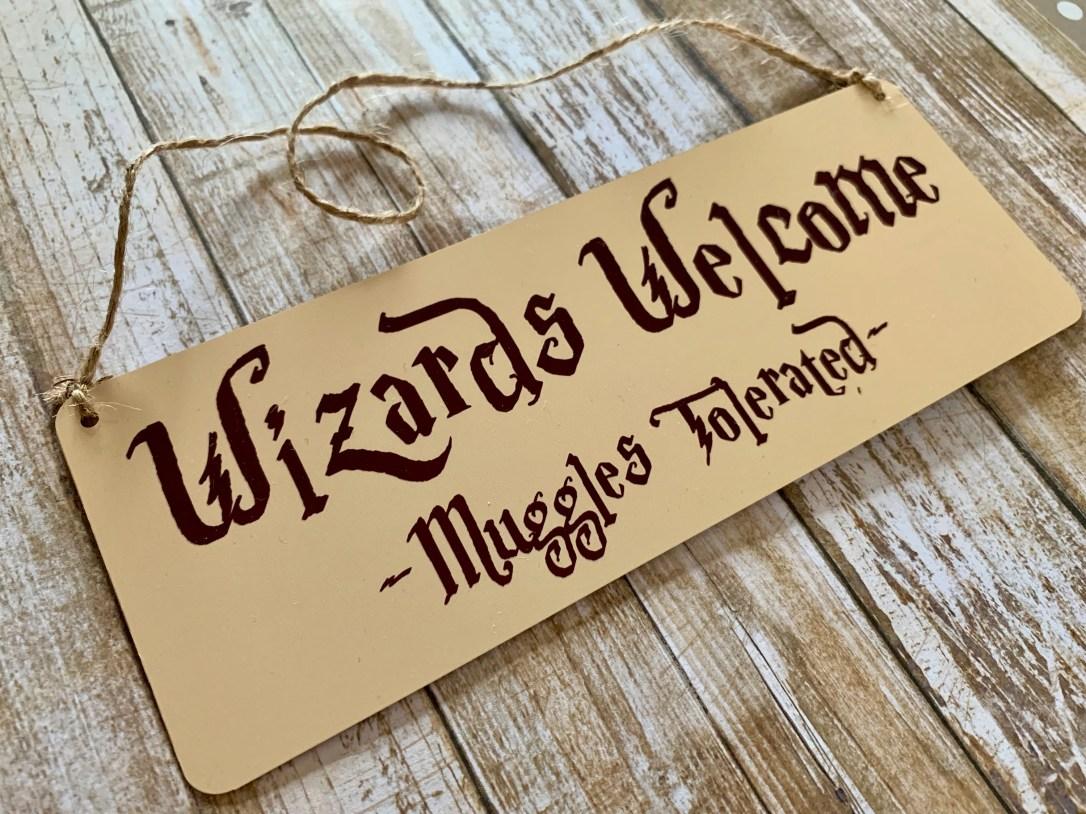 Wizards Welcome Door Plaque Hanger (Harry Potter inspired)