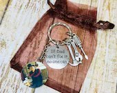 Personalised Photo Key Chain - Charm- Dad will fix it