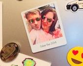 Personalised Polaroid Style Metal Fridge Magnet