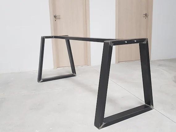 2x pieds de table industriel metal trapeze table metal legs trapezium feet legs for trapeze table pata de mesa trapecio tr8040
