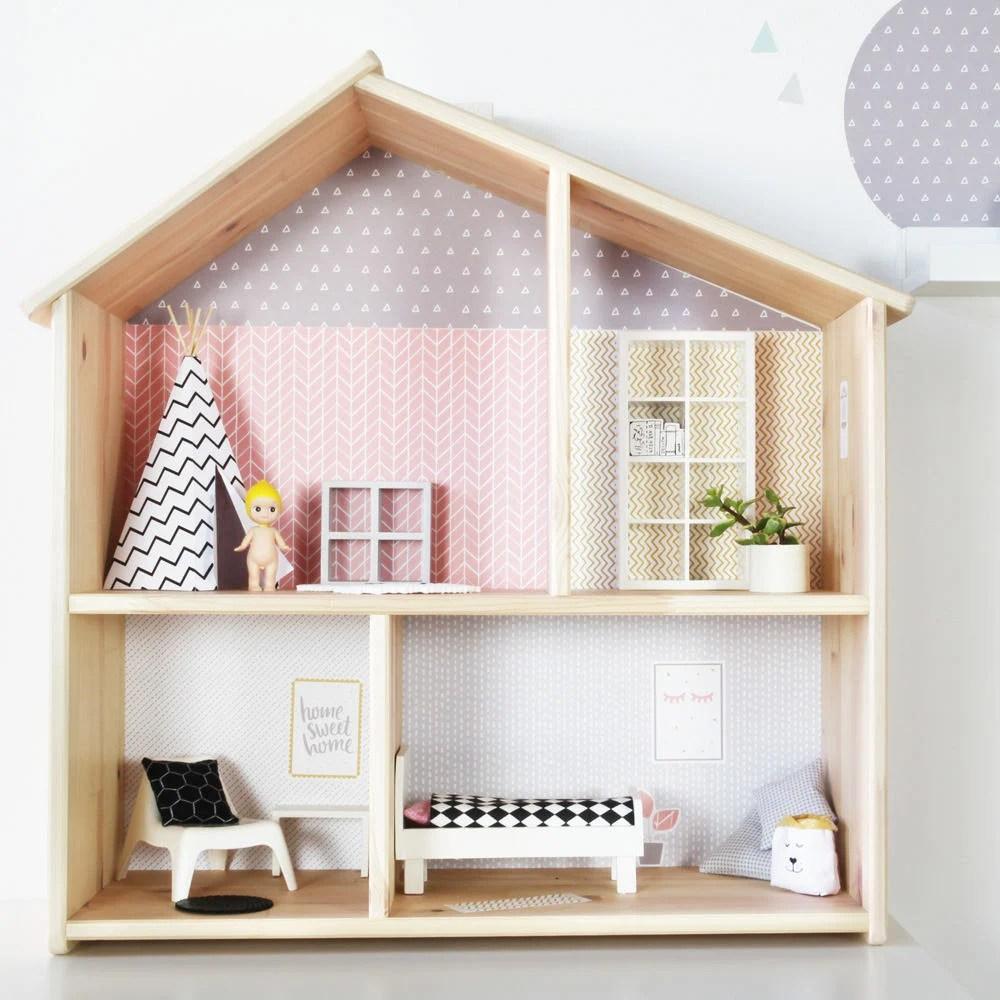 fonds d ecran ikea flisat maison de poupee papier peint wallpaper maison de poupee pour enfants decoration le meuble ne fait pas parti