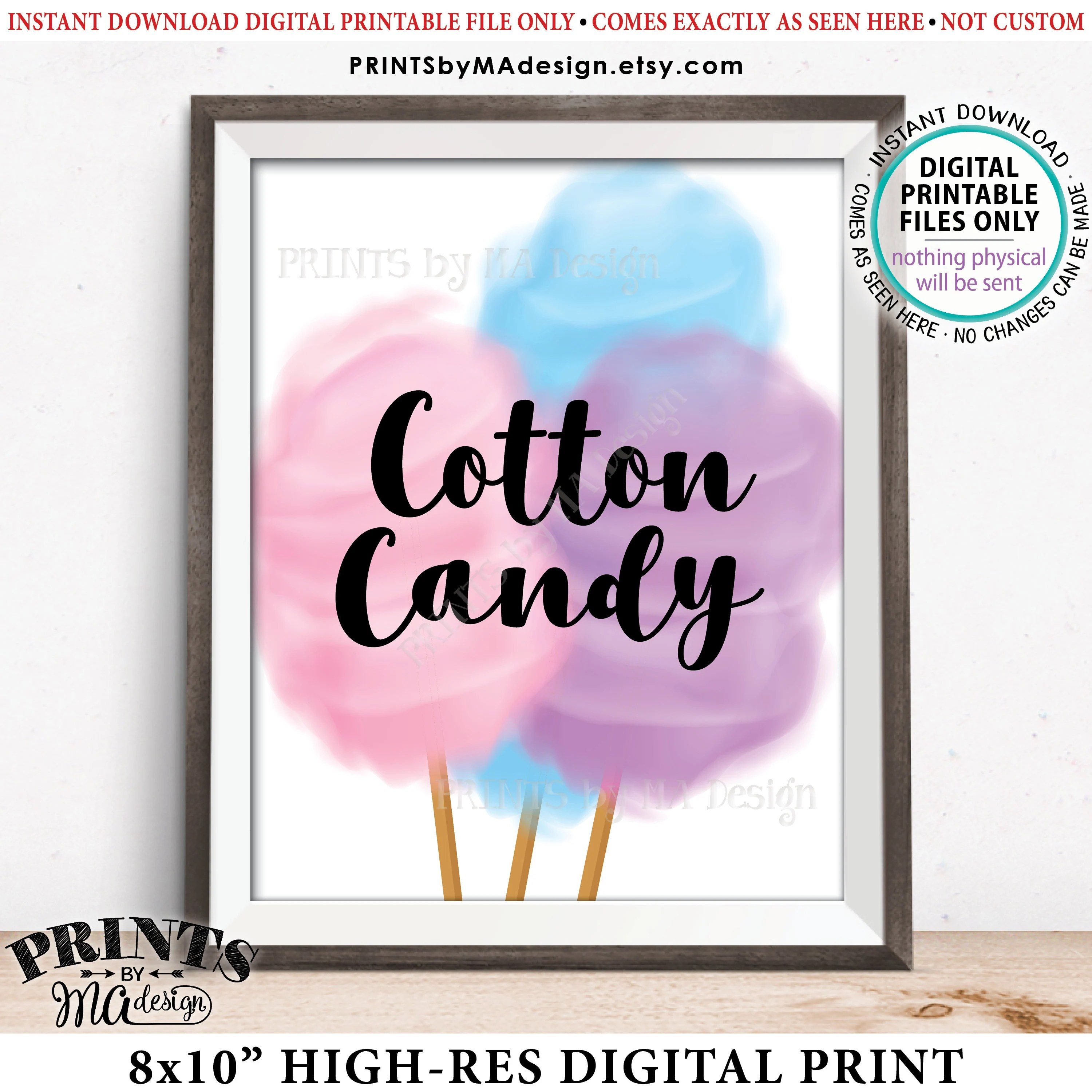 Cotton Candy Sign Cotton Candy Station Wedding Decor