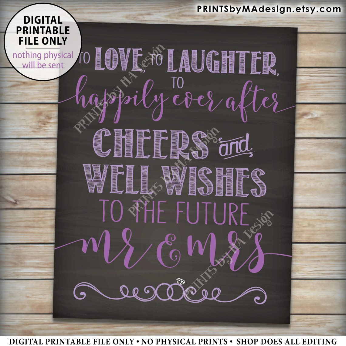 Download Cheers and Well Wishes Sign, To Love To Laughter To ...