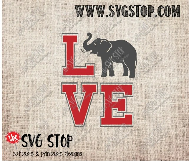 Download Alabama Elephant Love design Svg Dxf Jpg Png & Eps files ...